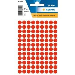 Doprodej - Etikety Herma neon červené kolečko 8mm 540ks