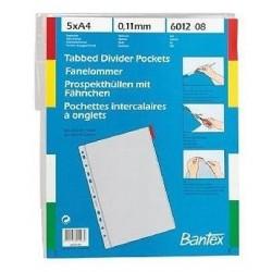 Zboží na objednávku - Rozřaďovač A4 obaly s barevným okrajem, 5ks BANTEX 6012