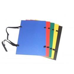 Zboží na objednávku - Desky spisové s tkanicí A4 PP plus potah černá