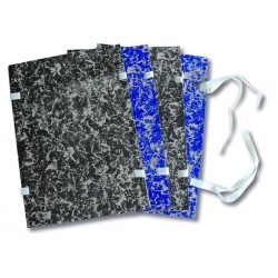 Desky spisové s tkanicí A4 strojní EKO modrá mramor [ POUZE PO 25-ti ks ]