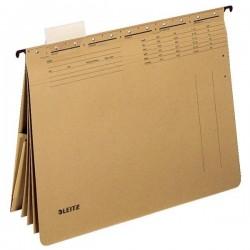 Zboží na objednávku - Závěsné desky LEITZ Alpha s rychlovazači a kapsou 19830000 hnědá 25ks
