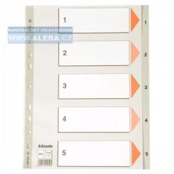 VÝPRODEJ - Rozřaďovač A4 1- 5 listů plastový Esselte 100103