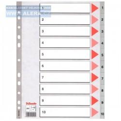 VÝPRODEJ - Rozřaďovač A4 1-10 listů plastový Esselte 100105