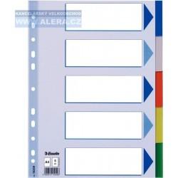 Rozřaďovač A4 5 listů barevný plast Esselte 15259