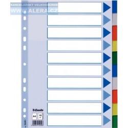 VÝPRODEJ - Rozřaďovač A4 2x5 listů barevný plast Esselte 15261