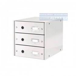 Zboží na objednávku - Zásuvkový box Leitz CLICK-N-STORE 3 zásuvky 60480001 bílá