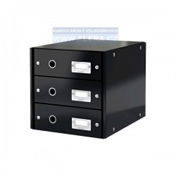 Zboží na objednávku - Zásuvkový box Leitz CLICK-N-STORE 3 zásuvky 60480095 černá