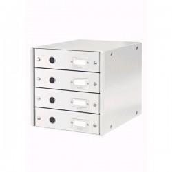 Zboží na objednávku - Zásuvkový box Leitz CLICK-N-STORE 4 zásuvky 60490001 bílá