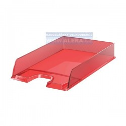 Odkladač na dokumenty Esselte EUROPOST SOLEA 623601 průhledná červená