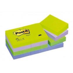 Lepicí bloček 3M Post-it 653 38x51mm 12x 100 lístků barevný mix