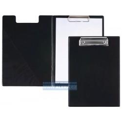 Deska psací podložka dvojitá A5 horní klip PVC černá