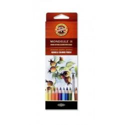 Zboží na objednávku - Pastelky akvarelové 18ks Koh-i-noor 3717 Mondeluz - umělecké - Plody