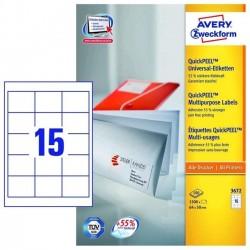 Zboží na objednávku - Etikety Avery Zweckform 3672 univerzální 64x50mm 1500ks