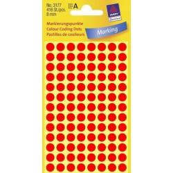 Zboží na objednávku - Etikety Avery Zweckform 3177 neon červené kolečko 8mm 416ks