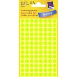 Zboží na objednávku - Etikety Avery Zweckform 3179 neon zelené kolečko 8mm 416ks