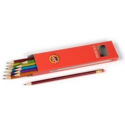 Tužka č.2 s gumou Koh-i-noor 1372/2 / 1ks s metalickým povrchem /mix barev/