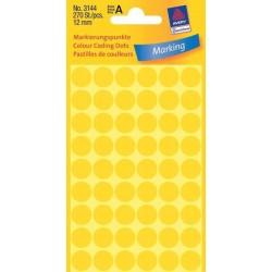 Zboží na objednávku - Etikety Avery Zweckform 3144 žluté kolečko 12mm 270ks