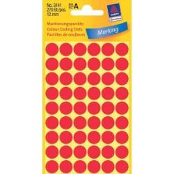 Zboží na objednávku - Etikety Avery Zweckform 3141 červené kolečko 12mm 270ks