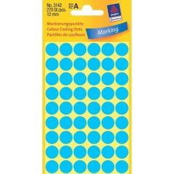 Zboží na objednávku - Etikety Avery Zweckform 3142 modré kolečko 12mm 270ks