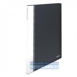 Katalogová kniha A4 Esselte Vivida 20kapes TUHÉ desky černá 623986
