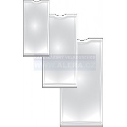 Obal PVC lepicí hřbetní štítek 25x77mm 12ks na archu