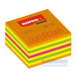 .Lepicí bloček Kores Cubo Summer 75x75mm 450 lístků mix barev