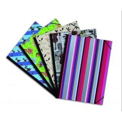 Desky na výkresy A2 rožky gumičky hřbet barevné s gumičkami