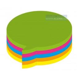 Lepicí bloček Kores tvar Bubliny 70x70mm 250 lístků