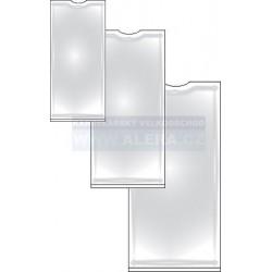 Obal PVC lepicí hřbetní štítek 56x103mm 10ks na archu