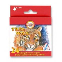 Zboží na objednávku - Voskovky 24ks Koh-i-noor 8274 trojhranné TRIO WAX