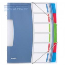 VÝPRODEJ -Třídicí desky A4 Esselte VIVIDA 6 dílů