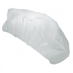 Čepice PE jednorázová bílá /100ks