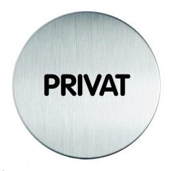 Informační piktogram nerez Durable 4924 Privat