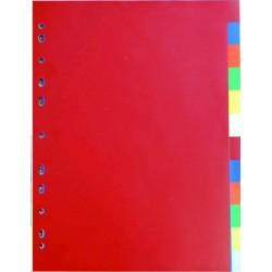 Rozřaďovač A4 2x6 listů barevný plast