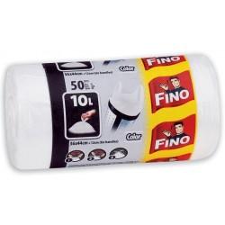 Zboží na objednávku - Sáček do koše 36x44 - 10l 7mic. /50ks s uchy bílá FINO