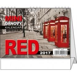 Kalendář 20S/BSA8 Red - mini daňový 148x105