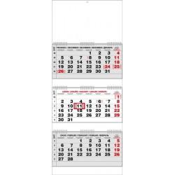 Kalendář 20N/BNC5 Tříměsíční skládaný 292x720