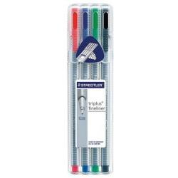 Zboží na objednávku - Popisovač liner Staedtler 334/ 4 sada barev 0.3 Triplus