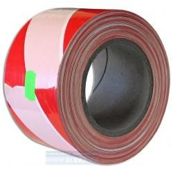 Páska červeno-bílá 8cmx250m - vymezovací bez textu