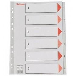 Rozřaďovač A4 1- 6 listů plastový Esselte 100104