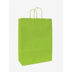 Dárková taška 25+11x32cm kroucené ucho 1ks zelená tmavá