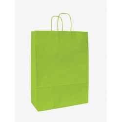 Taška papírová 25+11x32cm kroucené ucho 1ks zelená tmavá