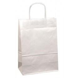 Taška papírová 24+10x32cm kroucené ucho 1ks bílá