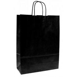 Zboží na objednávku - Taška papírová 25+11x32cm kroucené ucho 1ks černá