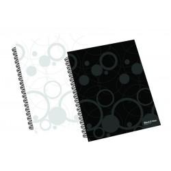 Blok A4 linka kroužkový, 70listů Black & White černá