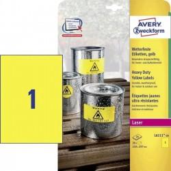 Zboží na objednávku - Etikety Avery Zweckform L6111-20 odolné vlivům počasí žluté 20 listů A4