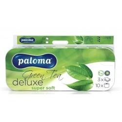 Papír WC 18m 150x10 ks 3vrst.Green Tea PALOMA De Luxe bílý
