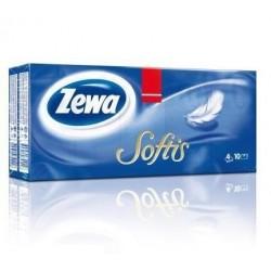 Kapesníky papírové-balení 10x10ks 4-vrstvé ZEWA Softis Standard