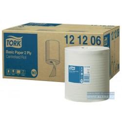 Zboží na objednávku - TORK 121206 Utěrka Basic role 2vrstvy bílá M2 /1role