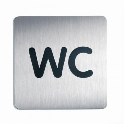 Informační piktogram nerez Durable 4957 WC 150x150mm